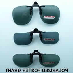 POLARIZED FLIP UP CLIP ON SUNGLASSES FOSTER GRANT FISH DRIVE