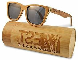 4est Shades Polarized Lenses Wood Sunglass Brown Maple Smoke