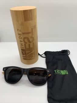 4est Shades Polarized Lenses Wood Sunglass, Brown Maple, Smo