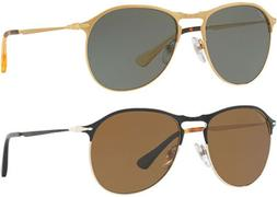 Persol Polarized Men's Modified Aviator Sunglasses - PO7649S