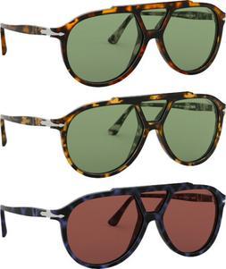 Persol Polarized Men's Pilot Sunglasses w/ Tempered Glass Le