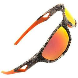 Polarized Outdoor Sports Sunglasses Tr90 Camo Frame For Men