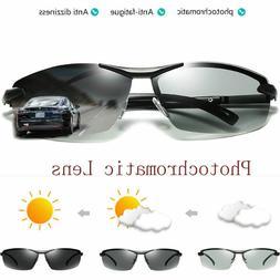 Polarized Photochromic Sunglasses Mens Pilot UV400 Driving T