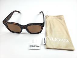 zeroUV- Polarized Retro Oversized Square Sunglasses w/Pouch