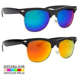Polarized Retro Sunglasses Men Women Vintage Color Lens Meta