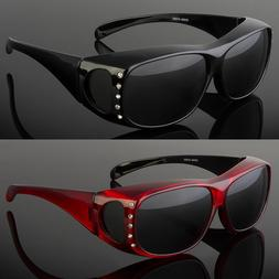 NEW POLARIZED FIT OVER WOMEN SUNGLASSES COVER ALL FRAME LENS