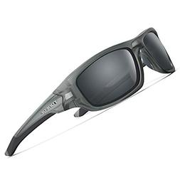 TOREGE Polarized Sports Sunglasses for Man Women Cycling Run