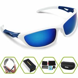 Torege Polarized Sports Sunglasses For Men Women Cycling Run