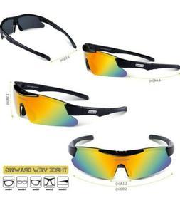 RIVBOS Polarized Sports Sunglasses RB0839 w/ 5 Interchangeab
