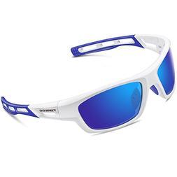 994dfd9d02 TOREGE Polarized Sports Sunglasses for Men Women Cycling Run