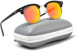 WearMe Pro Polarized Sunglasses Classic Black Half Frame, Mi