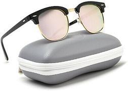 WearMe Pro Polarized Sunglasses Classic Retro Style Black Ha