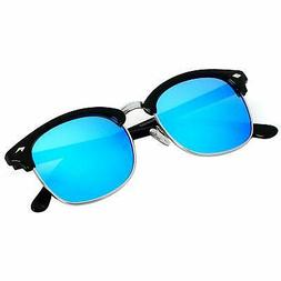 Polarized Sunglasses For Men Women Classic Half Frame Semi R