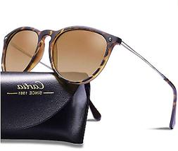 Carfia Polarized Sunglasses for Women Men Vintage Style 100%
