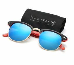 Polarized Sunglasses Retro Rivet High Quality Polaroid Lens
