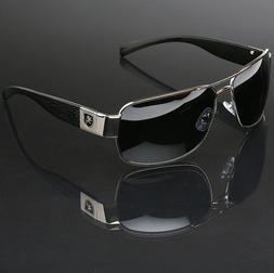 Polarized Sunglasses Retro Square Pilot Anti-Glare Driving F