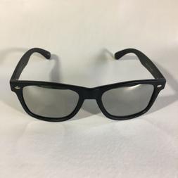 polarized sunglasses retro squared silver lens matte