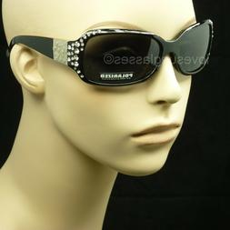 Polarized sunglasses rhinestone men women unisex drive fish