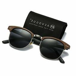 AEVOGUE Polarized Sunglasses Semi Rimless Frame Retro Brand