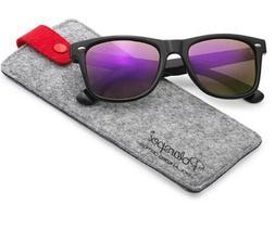 Polarspex Polarized Unisex 80's Retro Sunglasses Black/Ameth
