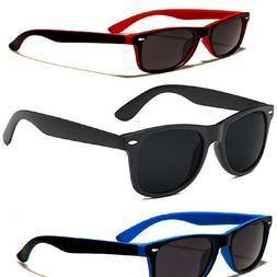 Polarized Wayfare Vintage Retro Sunglasses Unisex Matt Black
