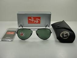 RAY-BAN AVIATOR POLARIZED SUNGLASSES RB3025JM 002/58 BLACK F