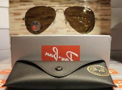 Ray-Ban Aviator Sunglasses Polarized RB3025 001/57 58mm Gold