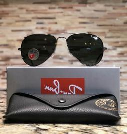 bcb1708f2e7af Ray-Ban Aviator Sunglasses Polarized RB3025 004 58 58mm Gunm