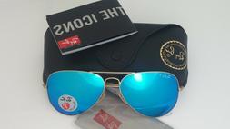 3f135066612bcf Ray-Ban Aviator Sunglasses Polarized RB3025 112 4L 58mm Gold
