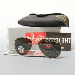 51e46ff279c Ray Ban Aviator Sunglasses RB3025 001 58 58mm Gold Frame Pol