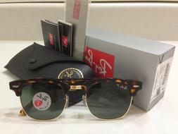 Ray Ban Clubmaster Sunglasses POLARIZED Green Lens Tortoise
