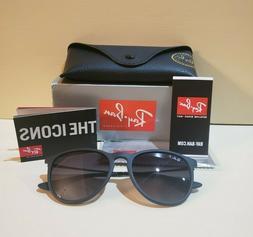 Ray-Ban Erika Classic Polarized Matte Black Sunglasses 54mm