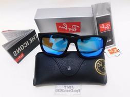 Ray-Ban Justin RB4165 622/55 54mm Matte Black Blue Mirror Po