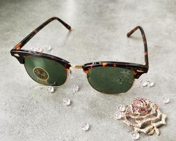 Ray Ban RB 3016 Clubmaster Classic W0366 Tortoise Frame/Gree