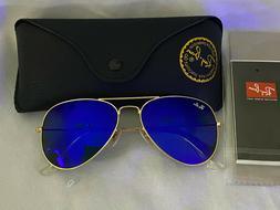 Ray Ban RB 3025 Aviator Flash Lenses112/17 Gold frame /Blue
