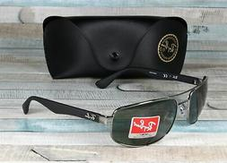 RAY BAN RB3445 004 Gunmetal Green 61 mm Men's Sunglasses