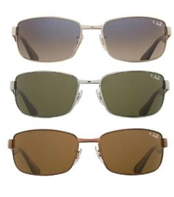 5bd1fff10b Ray Ban RB3478 Polarized Original Gunmetal Rectangle Sunglas
