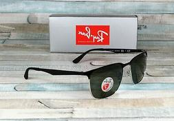 RAY BAN RB3569 90049A Silver Black Dark Green Polarized 59 m