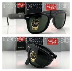 Ray-Ban RB4105 Folding Wayfarer Sunglasses 601 SHINY Black G