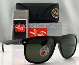 Ray-Ban RB4147 Sunglasses 601/58 Shiny Black Classic Green P