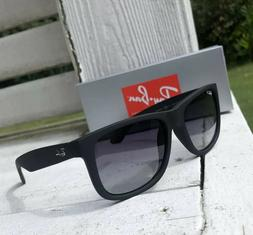 RAY BAN RB4165 622 T3 Black Rubber Polarized Grey Gradient 5