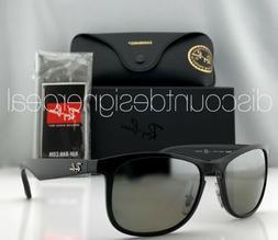 Ray-Ban RB4263 Sunglasses 6015J Shiny Black Silver Mirror PO