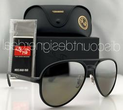Ray-Ban RB4320CH Aviator Sunglasses 601S5J Matte Black Silve