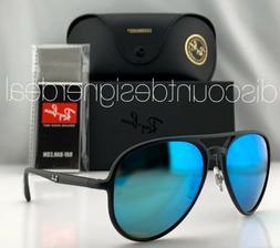 Ray-Ban RB4320CH Aviator Sunglasses 601SA1 Matte Black Blue