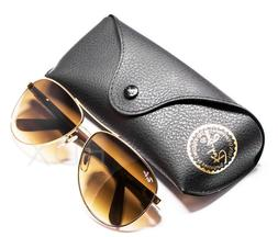 Ray-Ban Sunglasses Aviator Gold Carbon Fiber Frame Brown Len