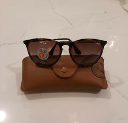 Ray-Ban Sunglasses Erika Tortoise Havana Polarized Brown Gra