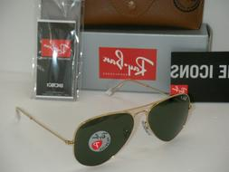 RAY BAN SUNGLASSES RB 3025 GOLD 001/58 RB3025