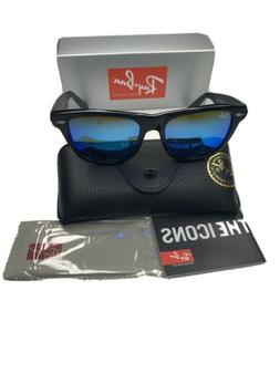 Ray-Ban Wayfarer Sunglasses RB2140 901/17 Black Frame Blue M