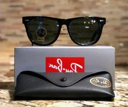 a319060b3d094 Ray-Ban Wayfarer Sunglasses RB2140 901 54mm Black Frame G-15