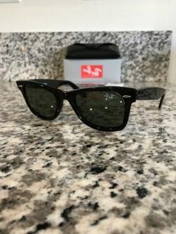 Ray-Ban Wayfarer Sunglasses RB2140 901 Black 50mm/G-15 Green